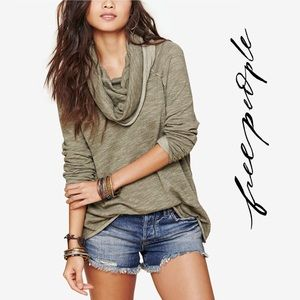 Free People Cocoon Cowl Neck Pullover, S